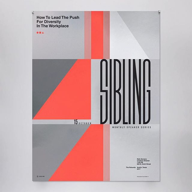 Another poster from the speaker series for Sibling.