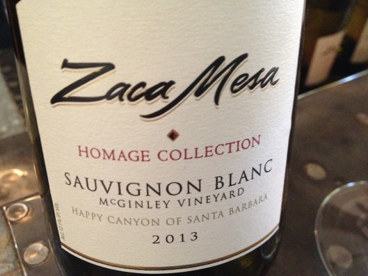 Zaca Mesa's Homage Collection of wines includes this sauvignon blanc from McGinley Vineyard in Happy Canyon of Santa Barbara.