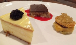 Three small but mighty desserts were paired with Kessler-Haak's 2013 Cabernet Sauvignon from Star Lane Vineyard