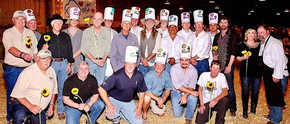 Arts Outreach photo/Some of the chefs from a previous year's event. Longtime participant Pete Fohl, second from left in front row, will be honored at this year's event.