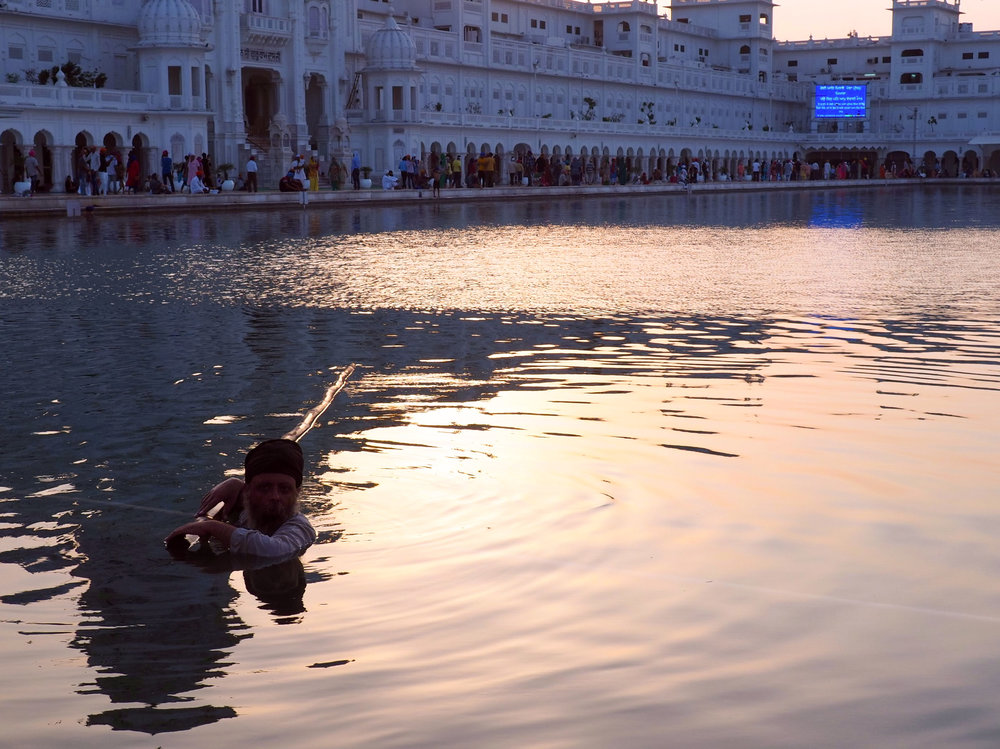Evening at the Golden Temple