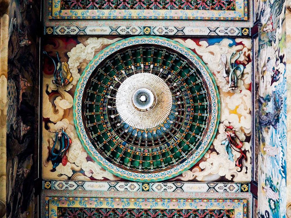 Ceiling of the Hall of Bodhisattvas