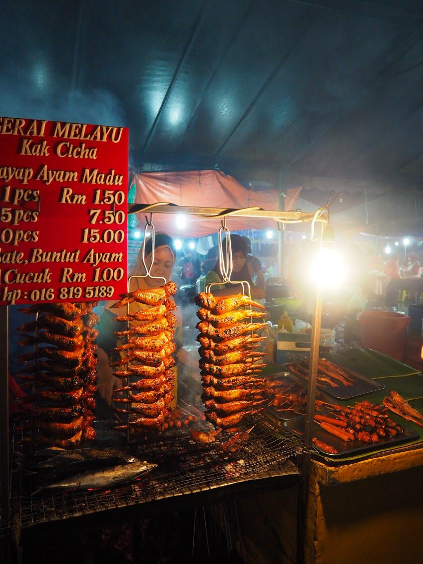Nighttime street food