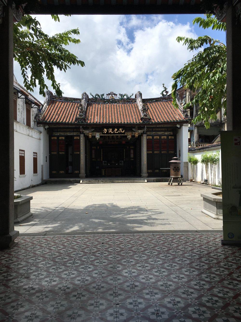 A quiet temple