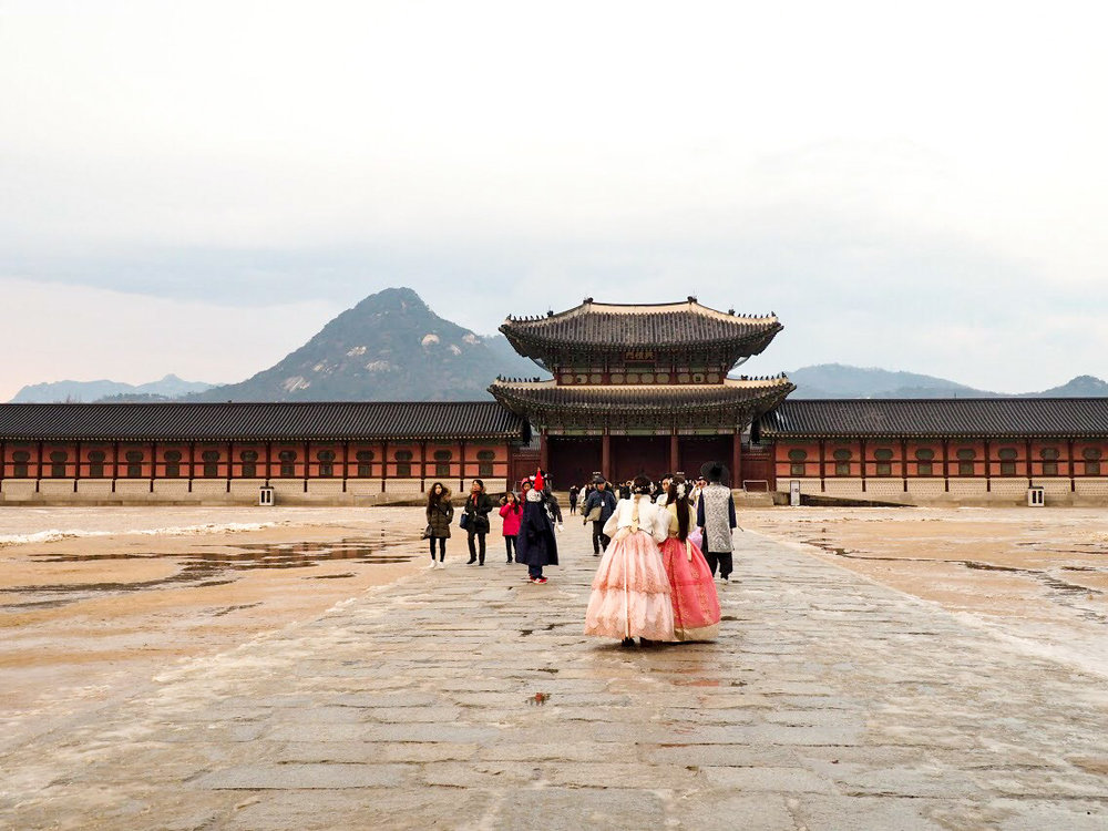 Gyeongbokgung Palace and Bugaksan mountain