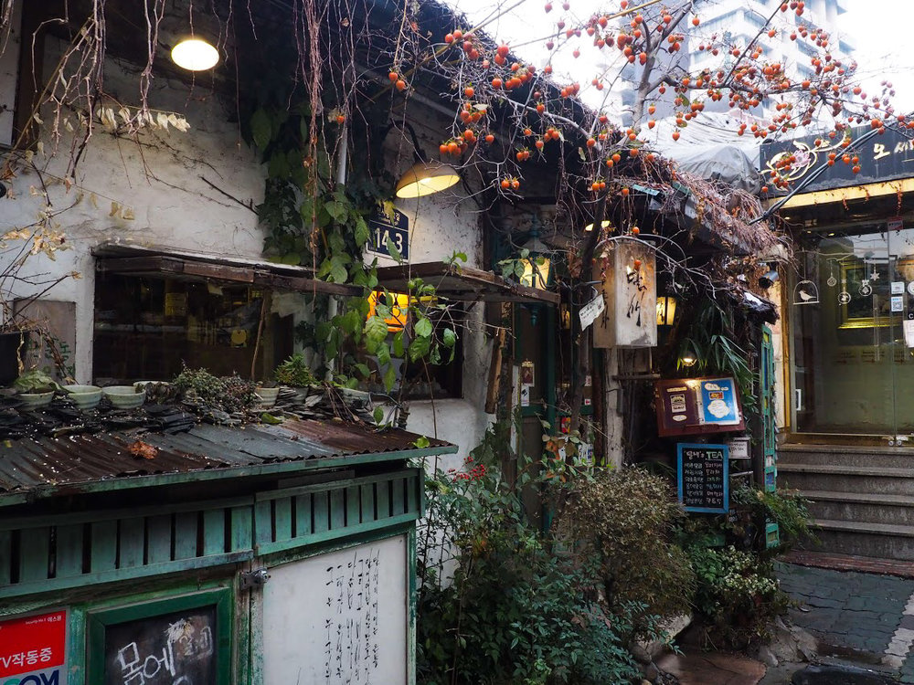 A traditional Hanok teahouse in the middle of the modern urban jungle