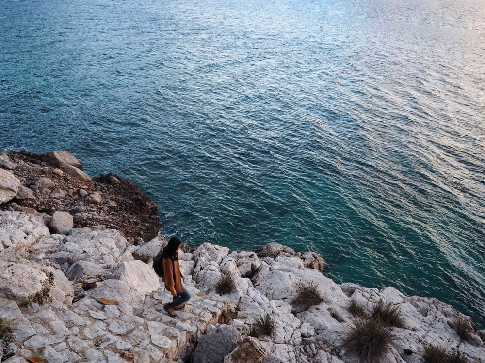 Shimmering sapphire sea