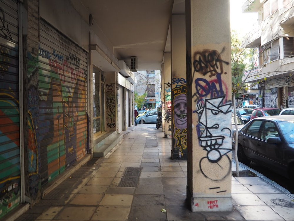 The neighborhood of Exarchia, home of anarchists and rioters