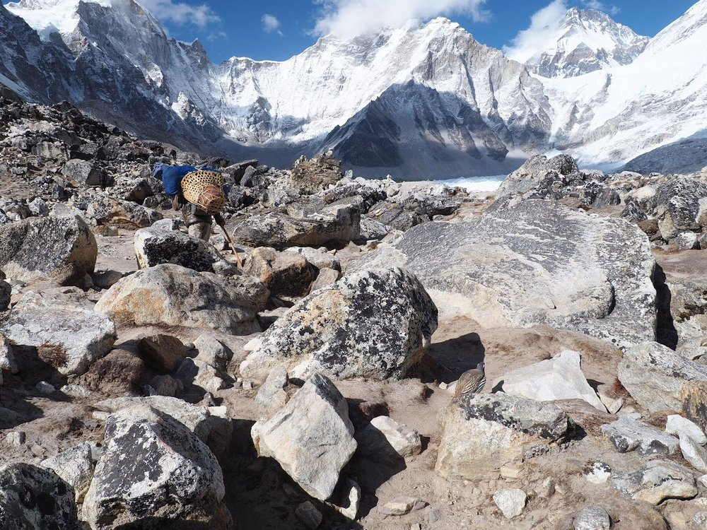 Till from the Khumbu, the largest glacier in Nepal