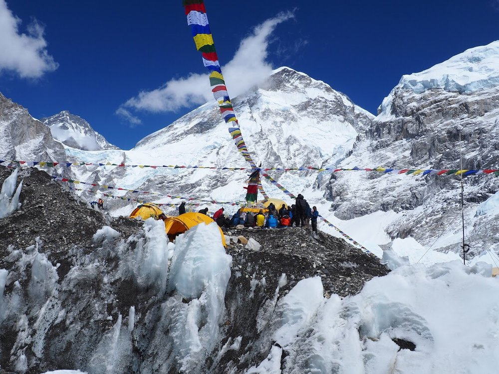 A puja, prayer, ceremony for climbers attempting to summit Everest