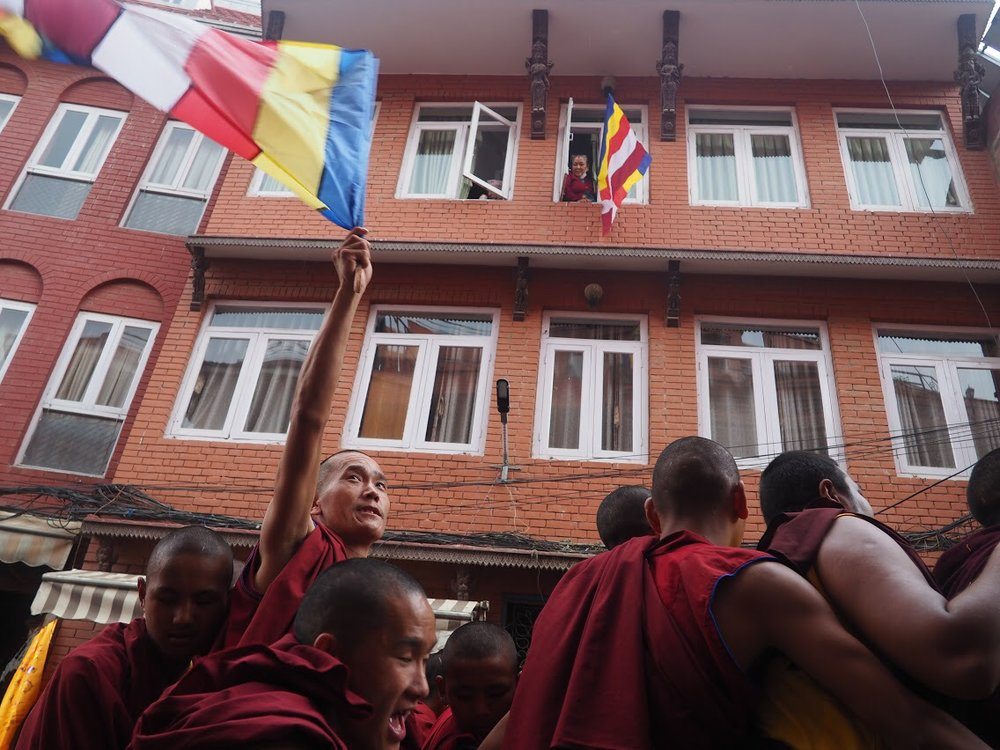 Buddha's birthday celebration in Kathmandu