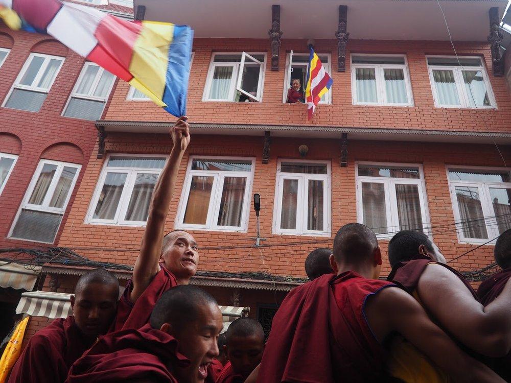 Buddha's birthday celebration in Kathmandu
