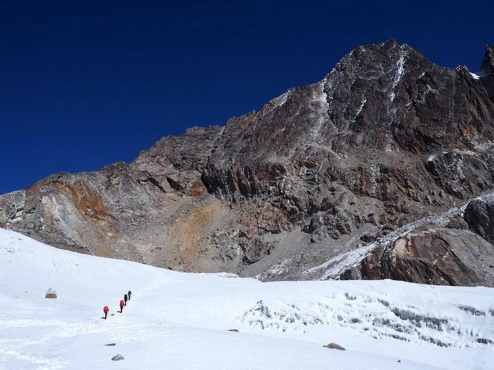 The way up to Chola Pass