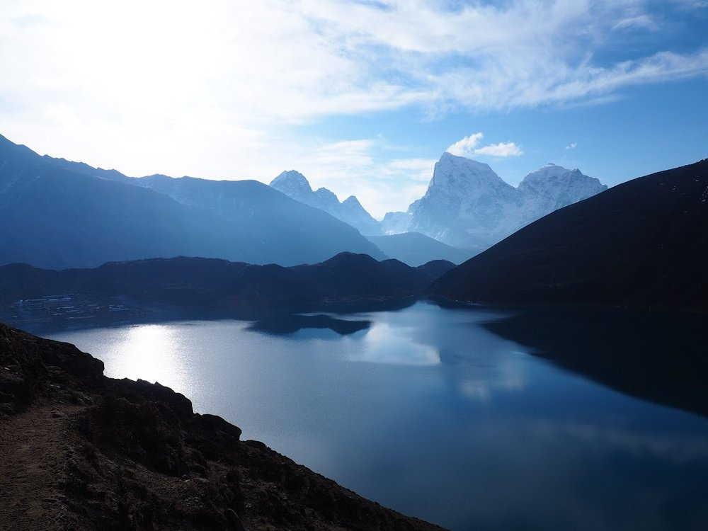 Gokyo lake with Cholatse and Taboche in the distance
