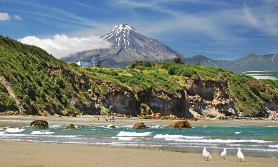 Mt Taranaki from the sea. Credit Jiri Foltyn/Shutterstock
