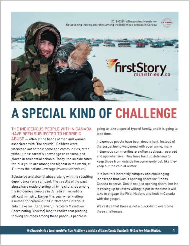 FirstResponders 2018 Q3 - A Special Kind of Challenge