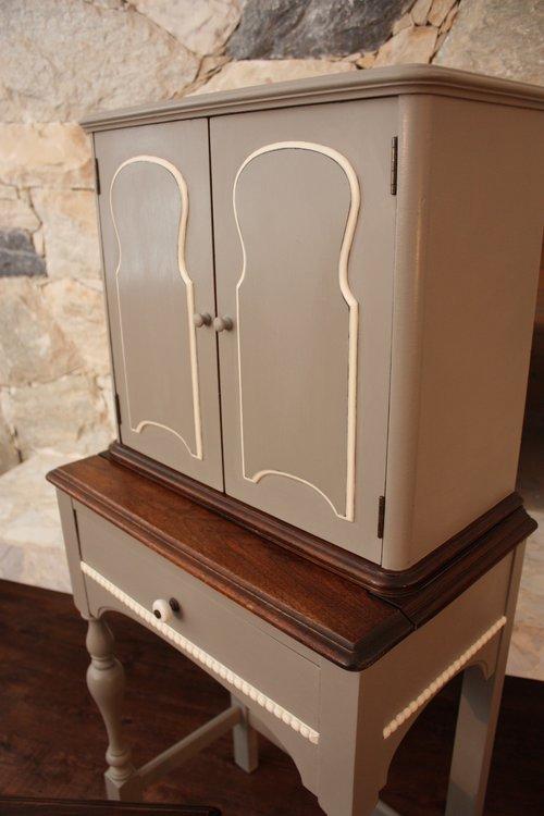 Attractive Antique Telephone Cabinet — The Dovetail Farmhouse XO01