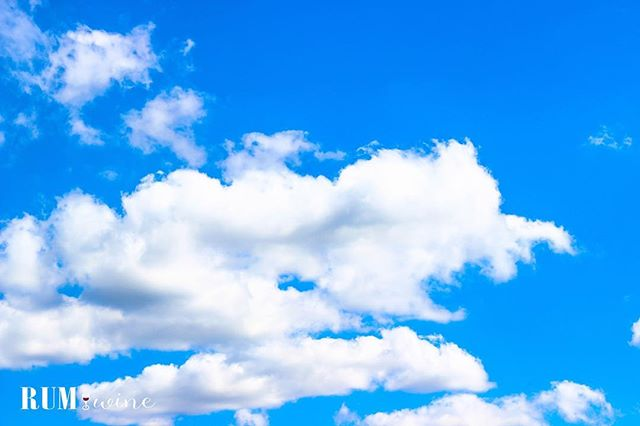 In preparation for this ugly nor'easter NJ is getting here's a blue sky! #clouds