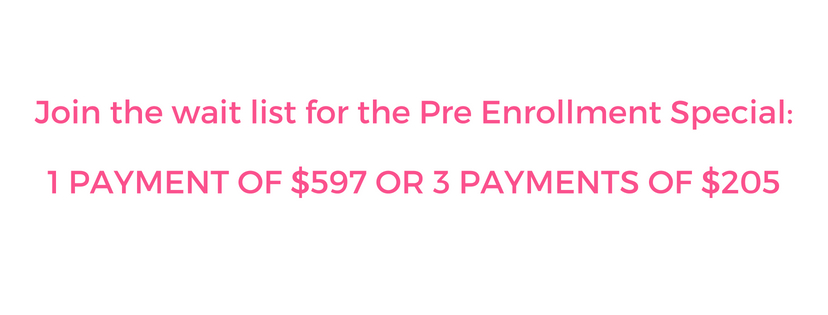 Join the wait list for the Pre Enrollment Special_1 PAYMENT OF $597 OR 3 PAYMENTS OF $205.jpg