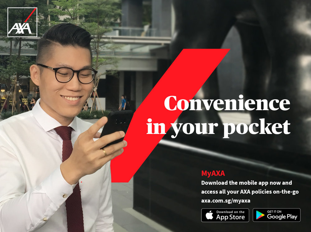 1. My AXA APP - All your existing insurances consolidated in an app, so you can see all your policies with one click (worth $200)