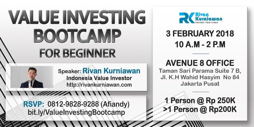 rivan kurniawan value investing bootcamp for beginners