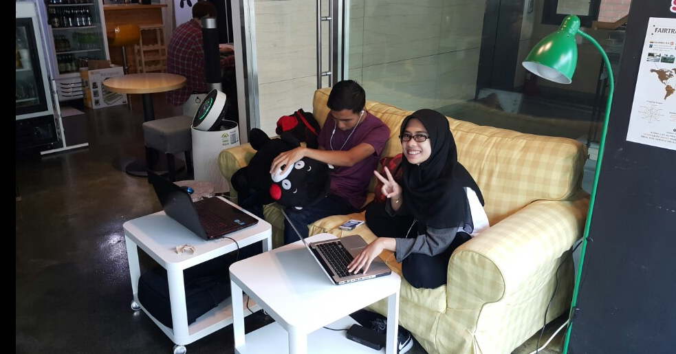 Interns work in a comfy and relaxed environment