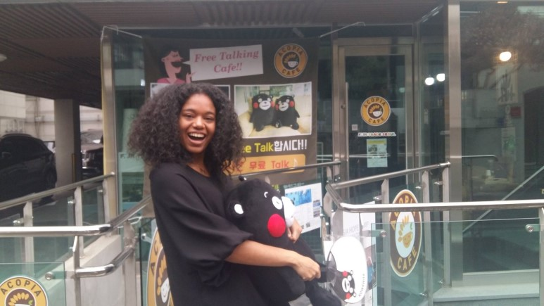 Aurélie Monrose - Internship period: January 12 to June 12Nationality: FrenchUniversity:Em Lyon Business SchoolOriginal activity: Promoting and selling Kumamon products at the Cafe