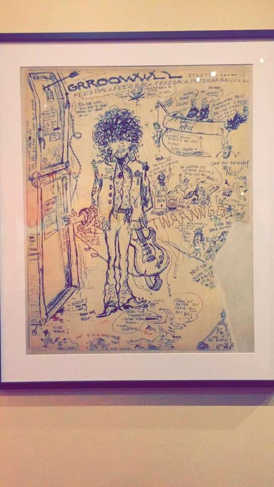 Jimi Hendrix doodles
