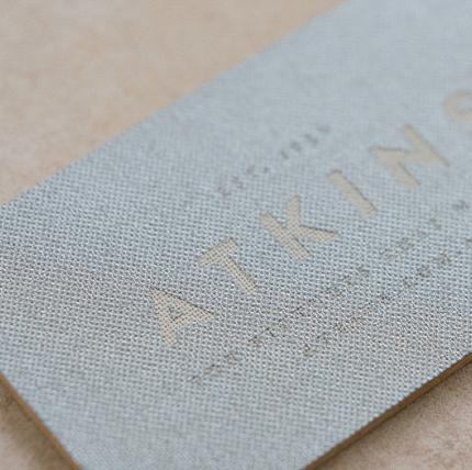 Silver Metallic Linen