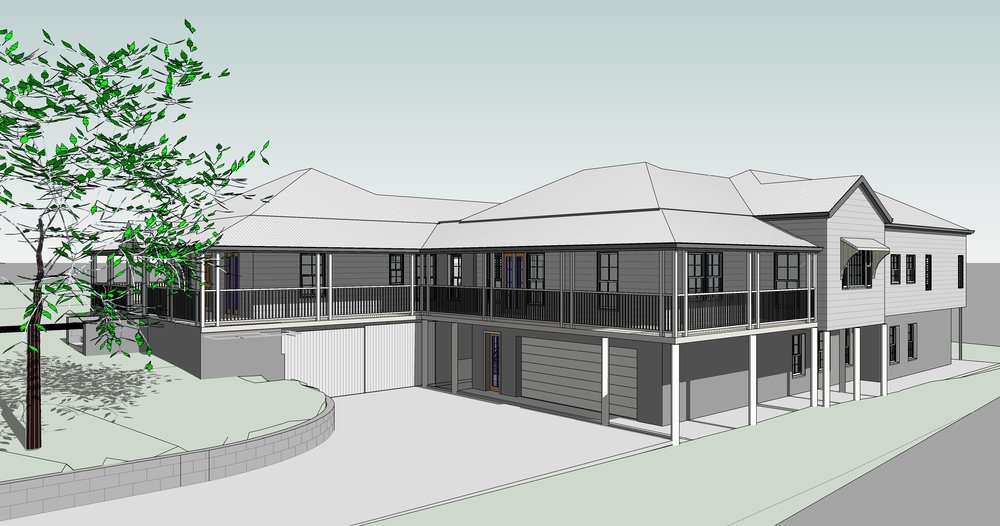 Town planning approval received. New bedrooms, bathrooms, living spaces, kitchen and rear deck.