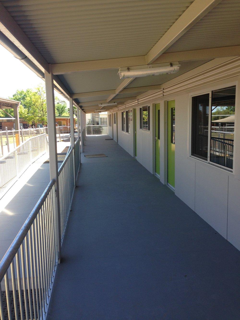 Primary school classrooms.