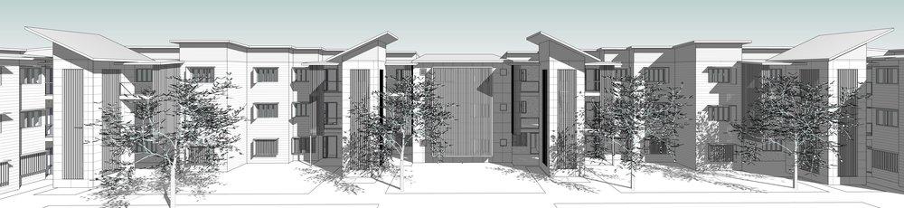 3 storey unit complex featuring a mix of 1, 2 & 3 bedroom units.