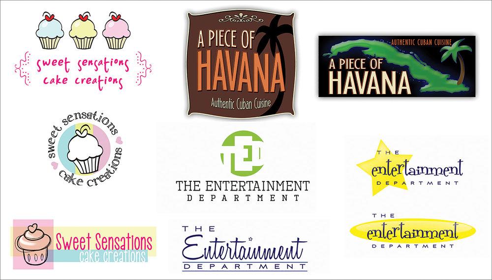 Various logo designs.
