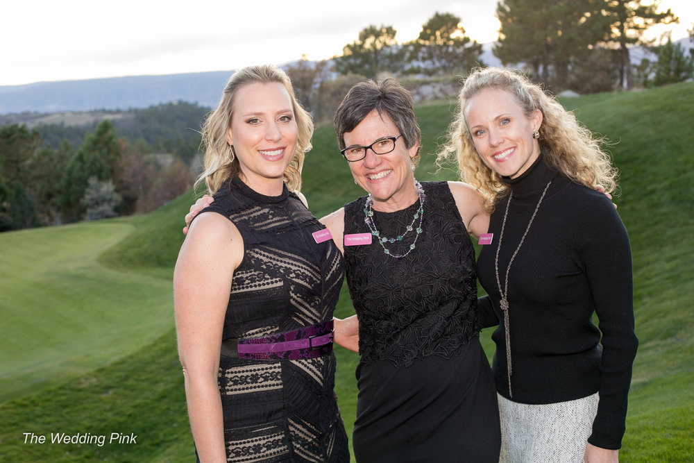 Melissa, Cheryl and Ann at the 2018 Wedding Pink