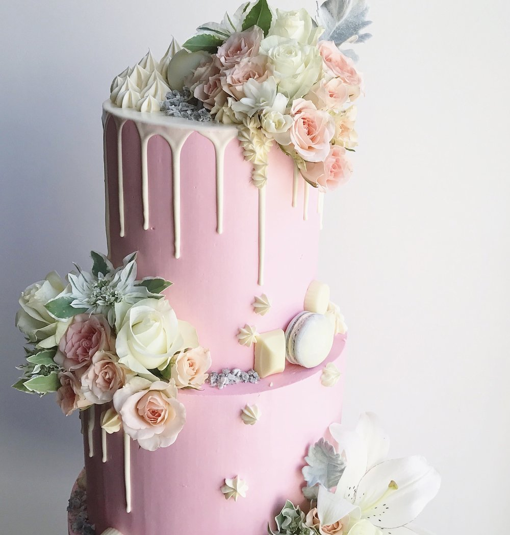 Pink Wedding Cake Top Tier
