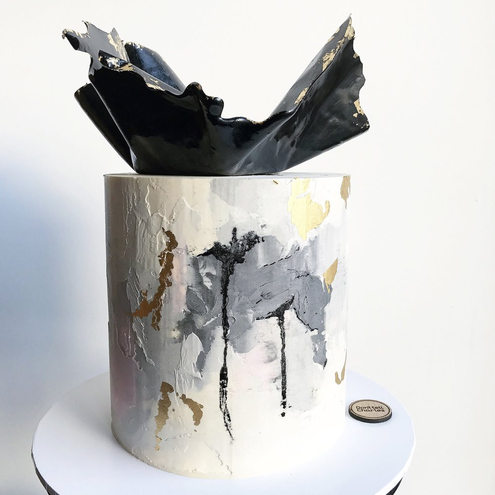 Abstract Celebration Cake