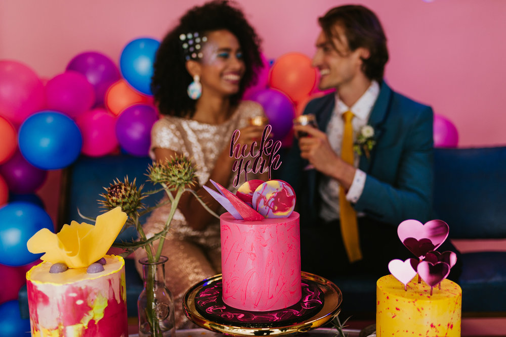 Neon + Glitter Wedding Inspiration - Published: HOORAY! MagPhotography: Gold and Grit