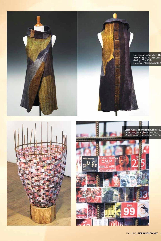 FIBER ART NOW MAGAZINE - FALL 2017