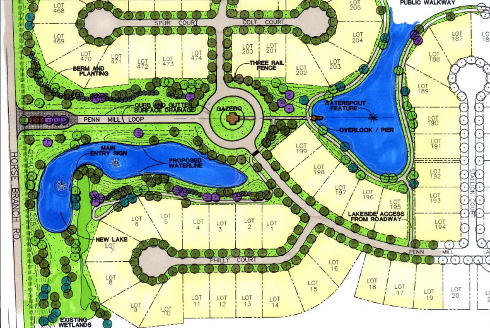 Penn mill lakes subdivision phase one entry dufreche perkins and associates llc for Subdivision planning and design