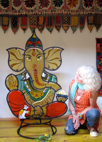 Just me and Lord Ganesha in our home, before he leaves for his new home at Yoga Sadhana Mandir.