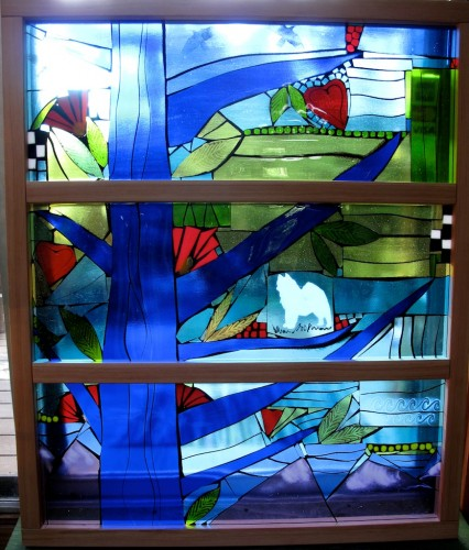 "Fused Glass Window Commission 36""x39"""