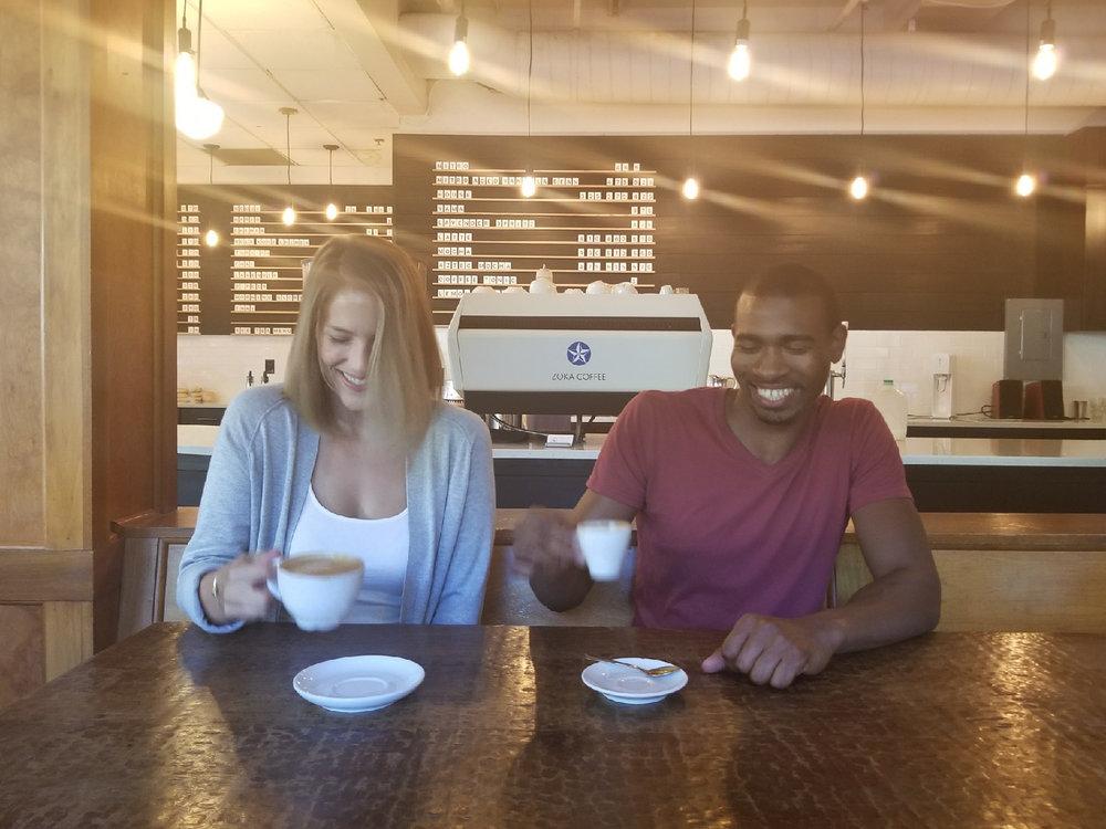Sip gourmet espresso at Zoka.