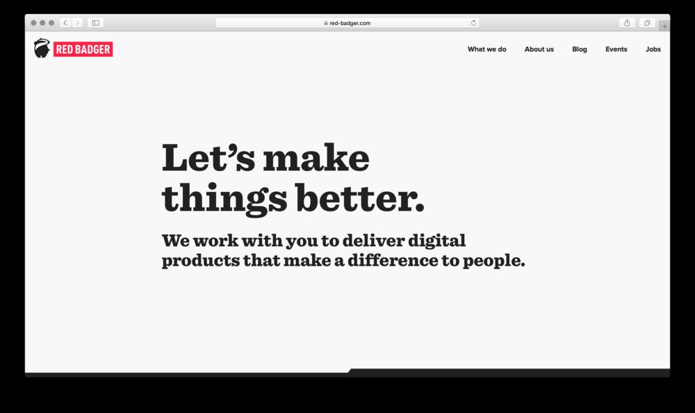 Homepage | red-badger.com