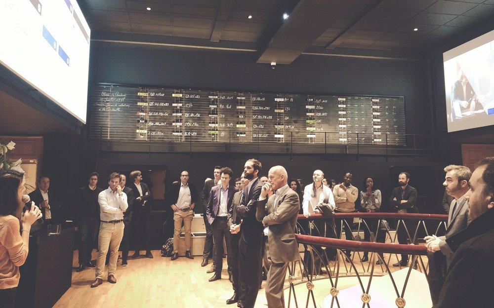 AngelSquare Fintech - 08/11/2018 @PalaisBrongniartSoirée de lancement d'AngelSquare Fintech, notre 1ère structure d'investissement dédiée aux fintech & insurtech depuis la corbeille du Palais Brogniart.