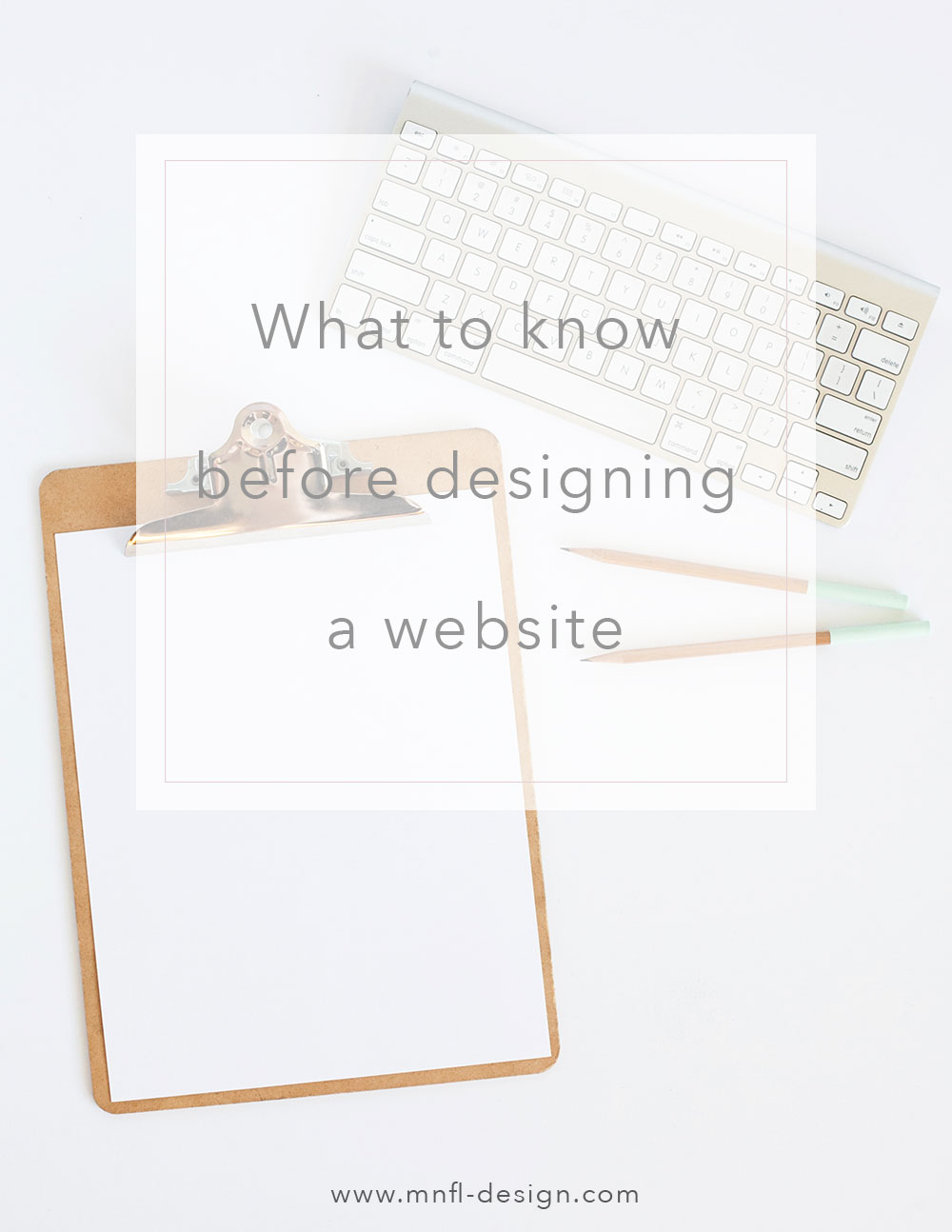 what to think about before designing a website