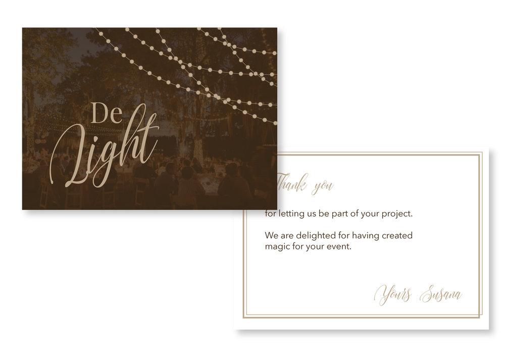 Thank you cards design | Collateral item design | MNFL Design