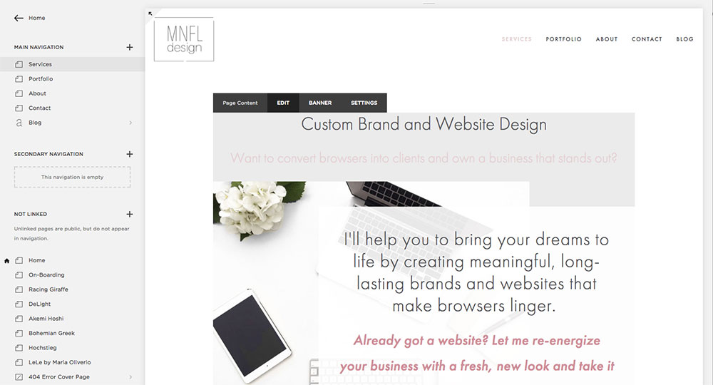 How to update content on your Squarespace website   MNFL Design