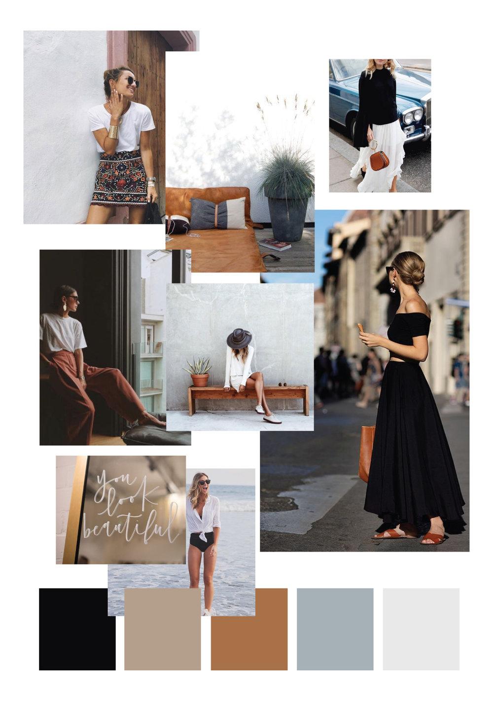 my design process for KATE CHAD | moodboard | MNFL Design
