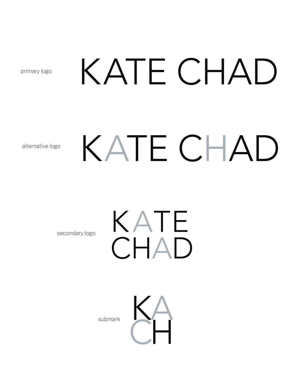 my brand design process for KATE CHAD | brand board | MNFL Design