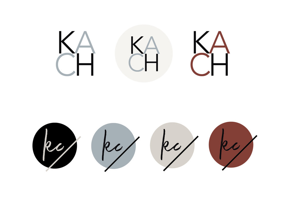 my brand design process for KATE CHAD | submarks options | MNFL Design